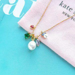 NWT Gold Little Gem Charm Pendant Necklace